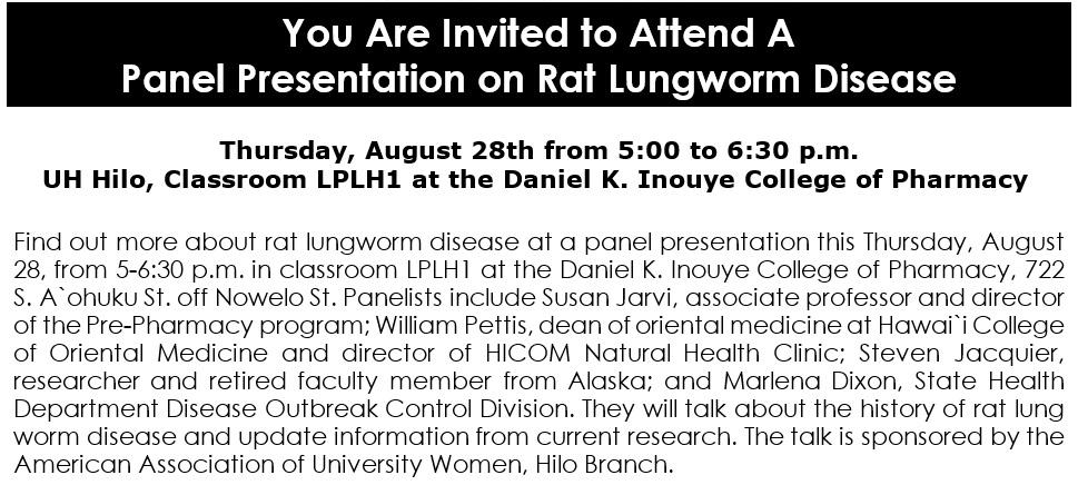 Rat Lungworm Presentation