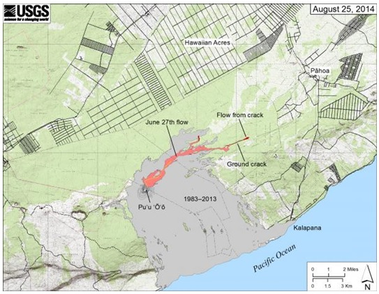 USGS Map Lava Flow Aug 2014